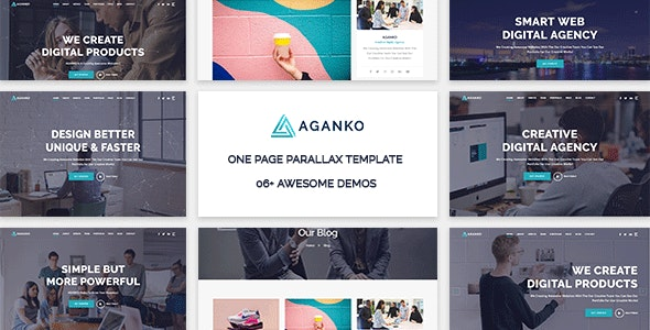 Aganko - One Page Parallax Template - Creative Site Templates