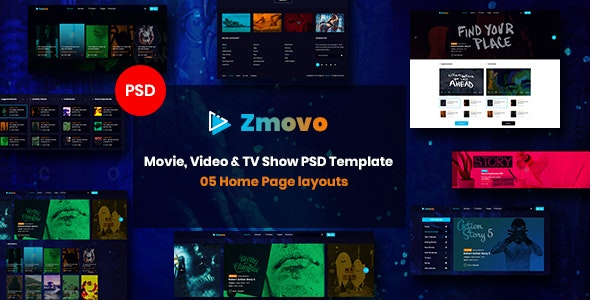 Zmovo - Online Movie, Video & TV Show PSD Template - Film & TV Entertainment
