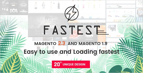 Fastest - Multipurpose Responsive Magento 2 and 1 Theme by Codazon