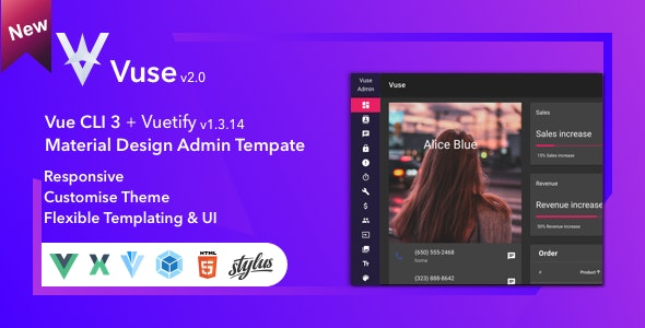 Vuse: VueJs CLI Material Admin by hexesis | ThemeForest