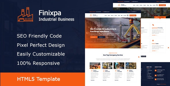 Finixpa - Industrial & Factorial Business HTML5 Template - Corporate Site Templates