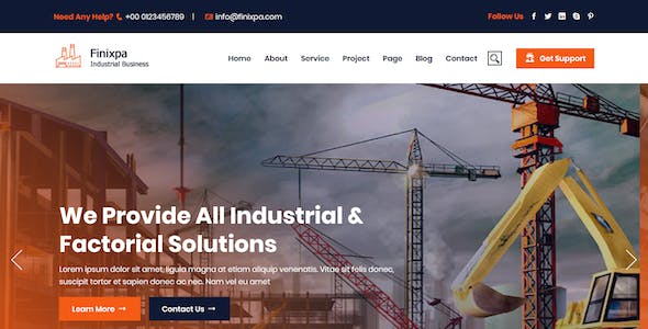 Finixpa - Industrial & Factorial Business HTML5 Template