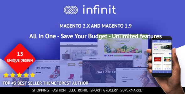 Infinit - Multipurpose Responsive Magento 2 and 1 Theme - Shopping Magento