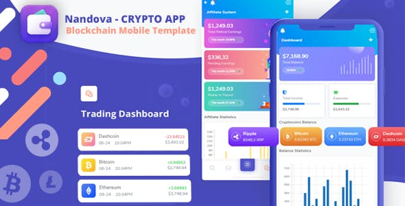 Nandova - Blockchain App & Crypto Wallet Mobile Template