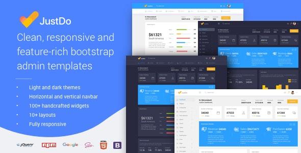 JustDo - Responsive Bootstrap Admin Template - Admin Templates Site Templates