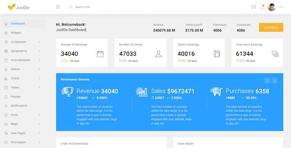 JustDo - Responsive Bootstrap Admin Template