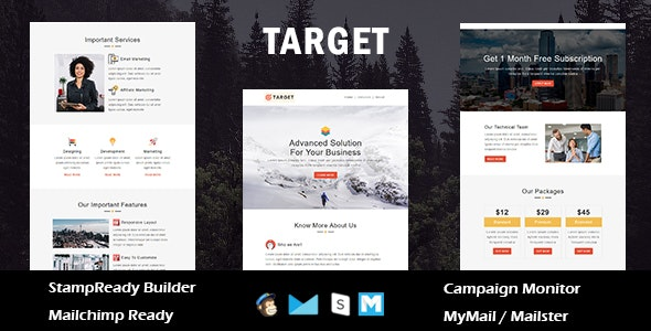 Target - Multipurpose Responsive Email Template With Online StampReady Builder Access - Newsletters Email Templates