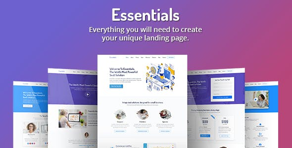 Essentials - High Converting SaaS Landing Page Template