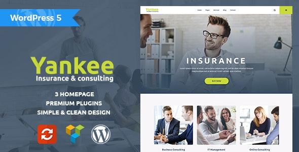 Yankee - Insurance & Consulting WordPress Theme - Business Corporate