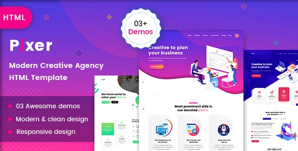 Pixer - Creative Digital Agency - Business Corporate