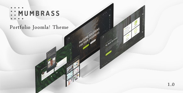 Mumbrass - Full Screen Personal Portfolio Joomla! Template - Creative Joomla
