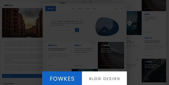 Fowkes - Minimalistic Blog Template - Sketch Templates