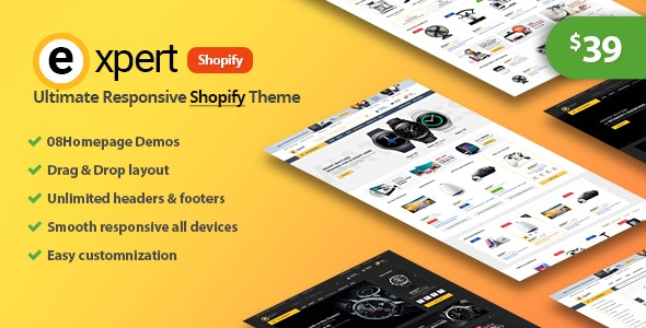 Expert -  Premium Responsive Shopify Theme - Shopify eCommerce