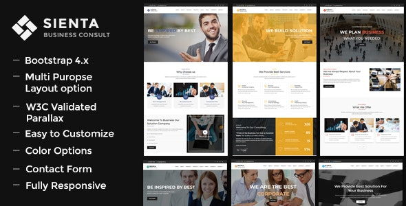 Sienta - Business Consulting and Corporate WP Theme - Business Corporate