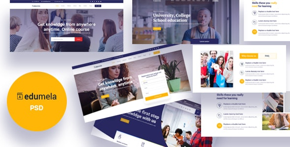 Edumela - Educational PSD Template - Nonprofit PSD Templates