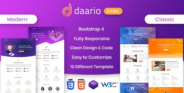 DAARIO - SAAS corporate HTML template - Site Templates