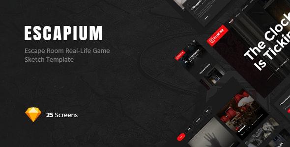 Escapium - Escape Room Game Sketch Template - Sketch Templates