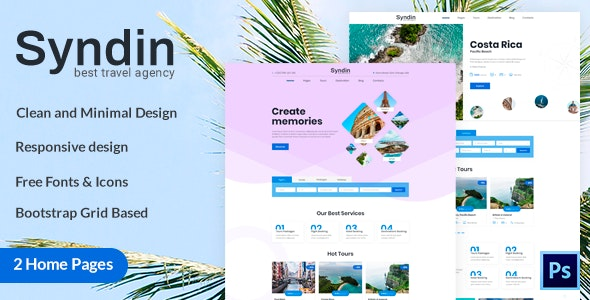 Syndin - Travel Agency PSD Template - Travel Retail