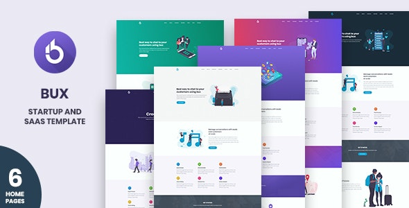Bux - Startup and SaaS Template - Business Corporate