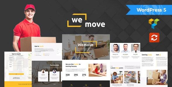 WeMove - Home Moving & Logistic WordPress Theme - Business Corporate