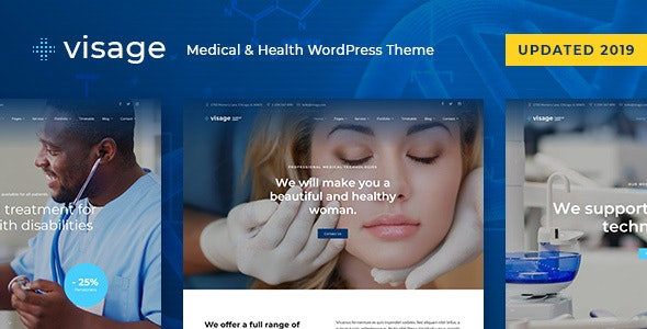Visage - Medical & Health WordPress Theme - Health & Beauty Retail