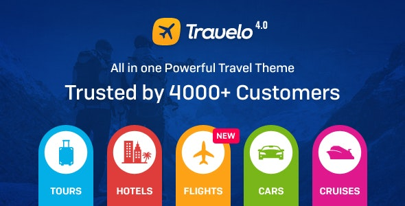 Travelo -­ Travel/Tour Booking Responsive WordPress Theme - Travel Retail