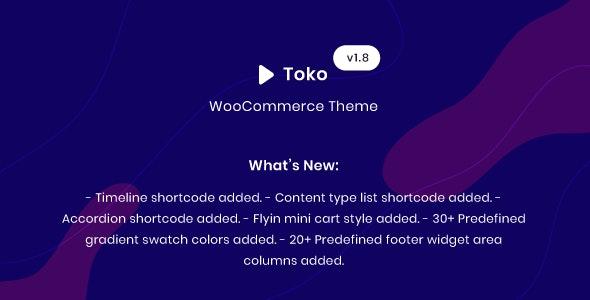 Toko WooCommerce Multipurpose Theme