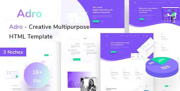 Adro - Multipurpose Creative HTML Template - Business Corporate