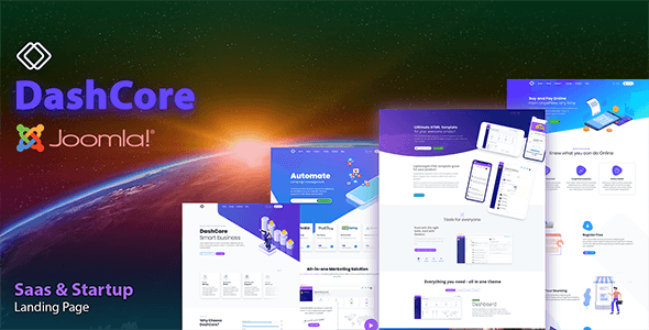 DashCore - SaaS, Startup & Software Joomla Template - Software Technology