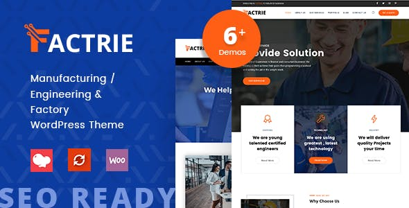 Download Factrie - Manufacturing & Industrial Factory WordPress Theme