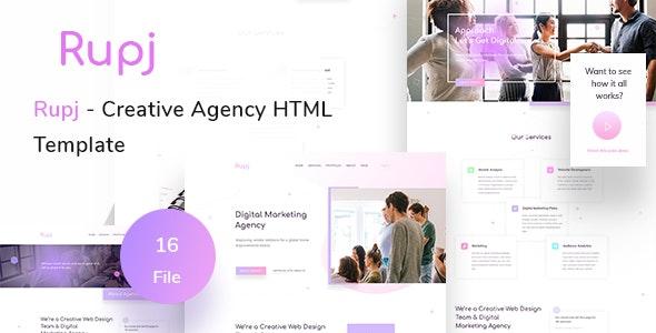 Rupj - Creative Agency HTML Template - Business Corporate