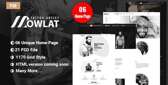 Dowlat - Inkd, Tattoo PSD Template - Creative PSD Templates