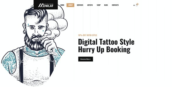 Dowlat - Inkd, Tattoo PSD Template