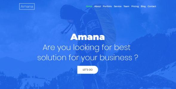 Amana - Multipurpose HTML5 Onepage Template - Corporate Site Templates