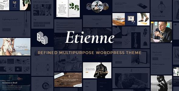 Etienne - Multipurpose Business & Agency Theme - Creative WordPress