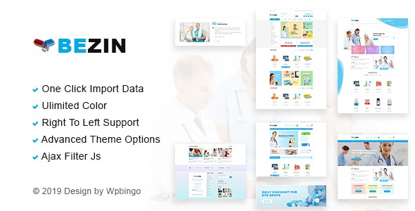 Bezin – Pharmacy & Health WooCommerce Theme - WooCommerce eCommerce
