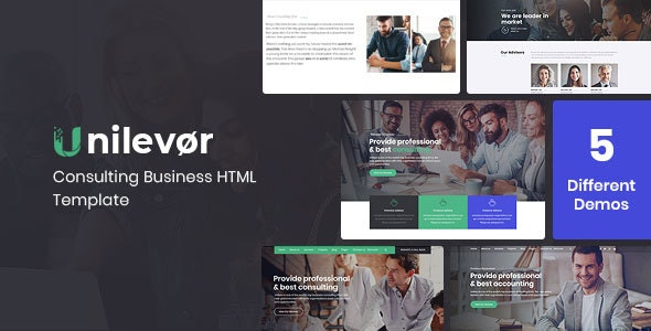 Unilevor - Consulting Business HTML Template - Business Corporate
