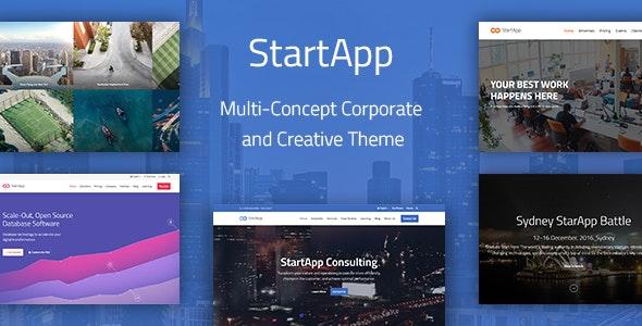 StartApp - Multi-Concept Corporate And Creative Theme - Business Corporate