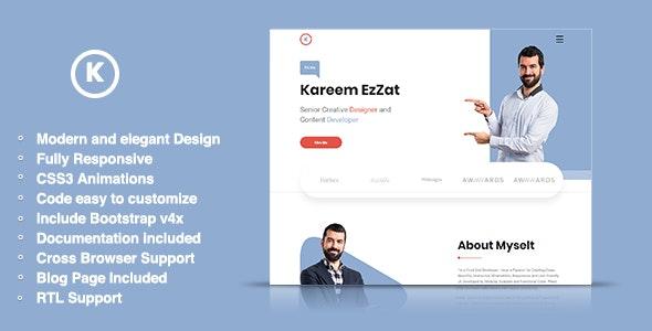 Karmen - HTML5 Portfolio Template - Portfolio Creative