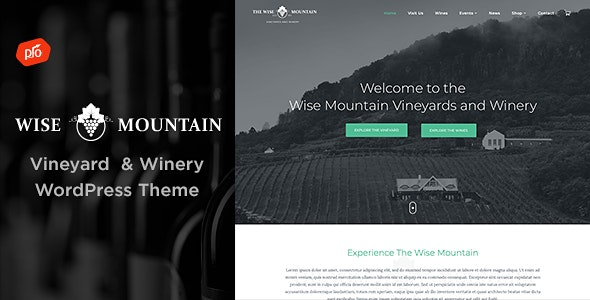 Wise Mountain - Vineyard and Winery Theme - Restaurants & Cafes Entertainment