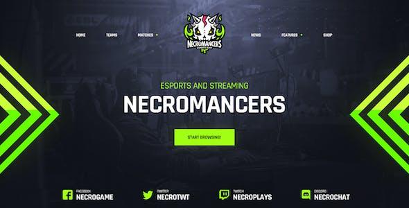 Necromancers - eSports Team PSD Template