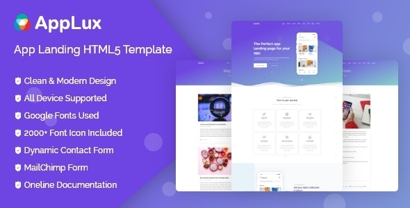 Applux - App Landing Template - Technology Site Templates