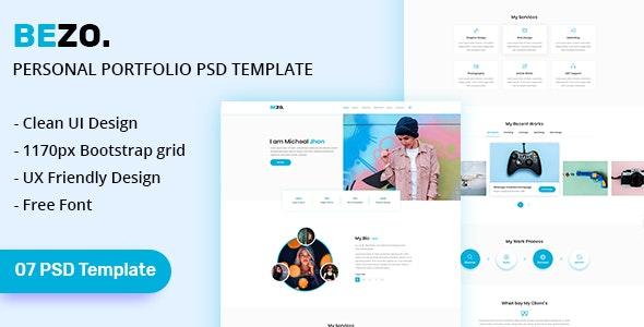 BEZO - Personal Portfolio PSD Template - Portfolio Creative
