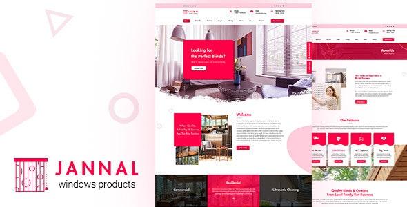 Jannal | Curtains, Blinds PSD Template - Retail PSD Templates