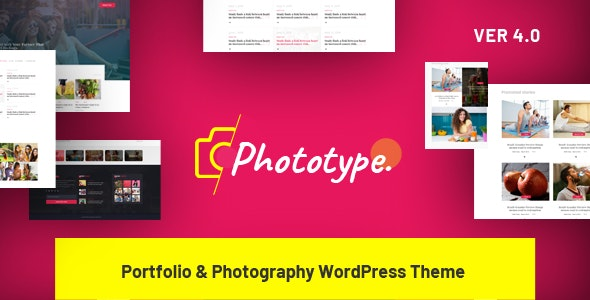 Phototype - New Elementor Portoflio WordPress Theme 2019 for Agency, Photography Sites - Portfolio Creative