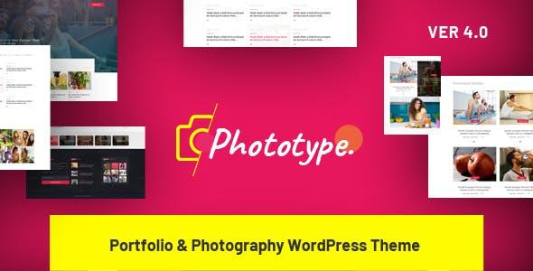 Phototype - New Elementor Portoflio WordPress Theme 2019 for Agency, Photography Sites