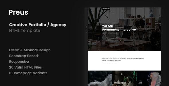 Preus - Digital Agency / Portfolio Template - Creative Site Templates