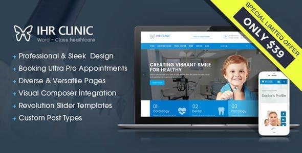 IHR Clinic - Medical and Health Care WordPress theme