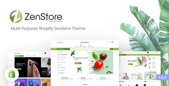 ZenStore | Multi-Purpose Shopify Sections Theme - Shopify eCommerce