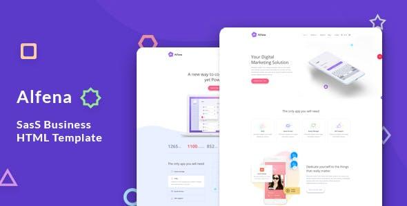 Alfena - SaaS, Software & WebApp Template